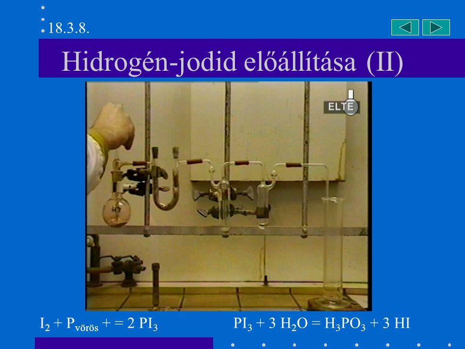 Hidrogén-jodid előállítása (II)