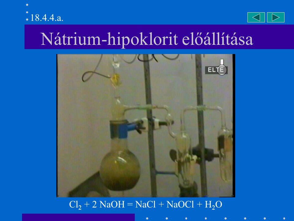 Nátrium-hipoklorit előállítása