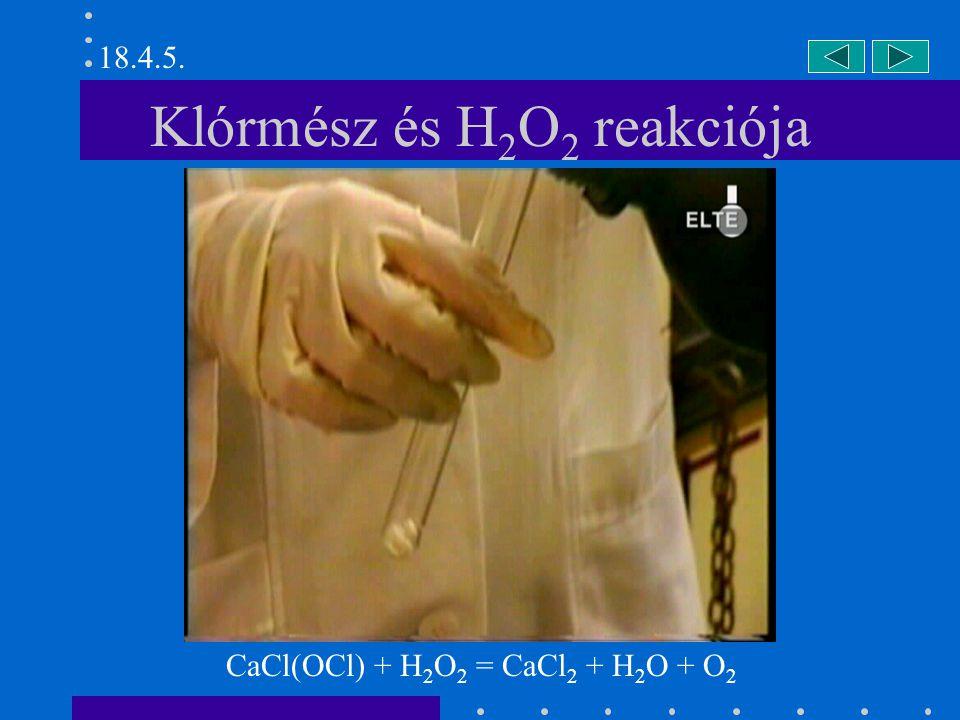 Klórmész és H2O2 reakciója