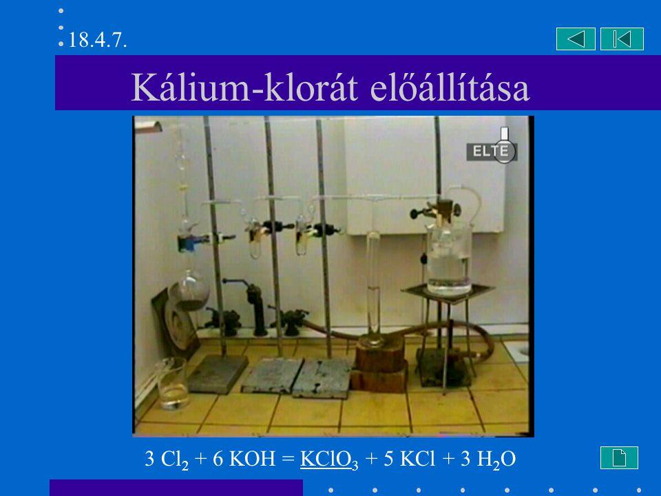 Kálium-klorát előállítása
