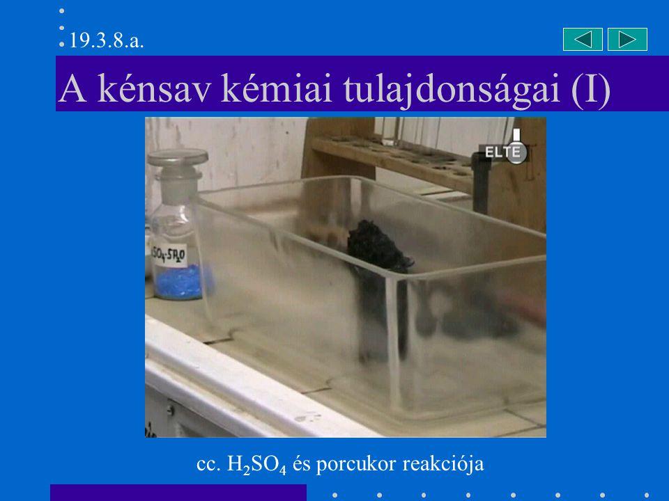 A kénsav kémiai tulajdonságai (I)