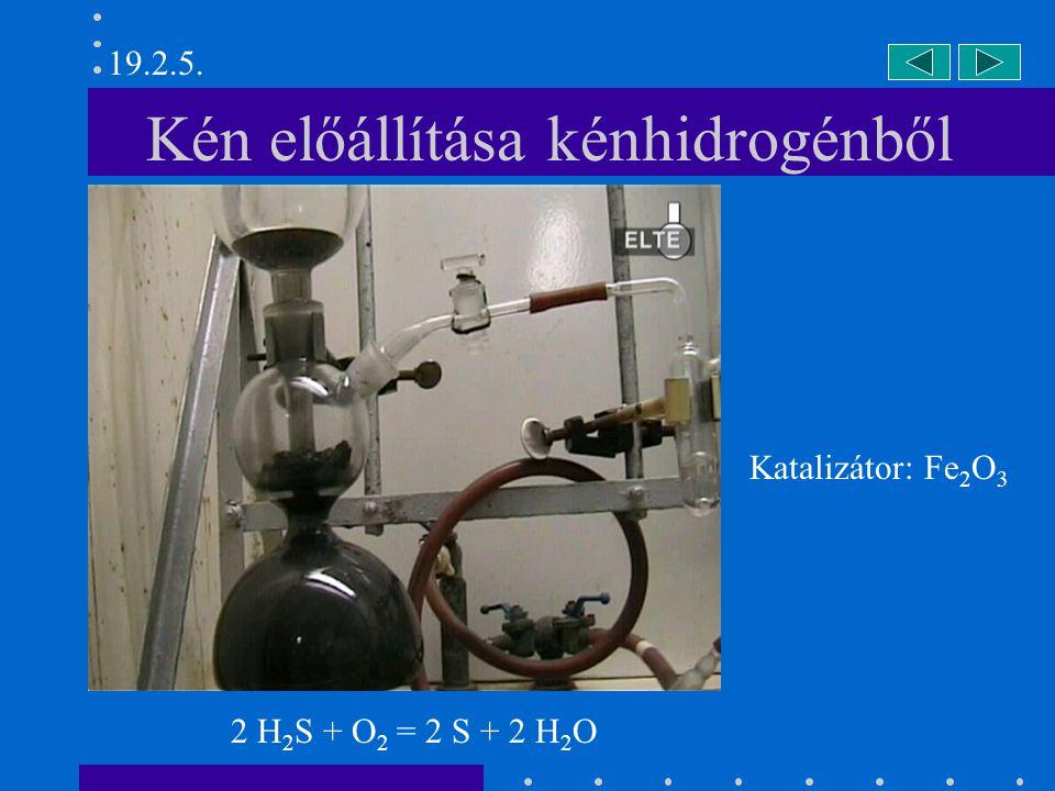 Kén előállítása kénhidrogénből