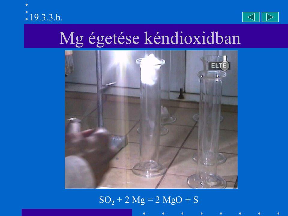 Mg égetése kéndioxidban