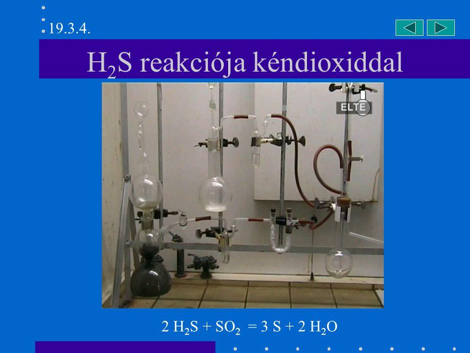 H2S reakciója kéndioxiddal