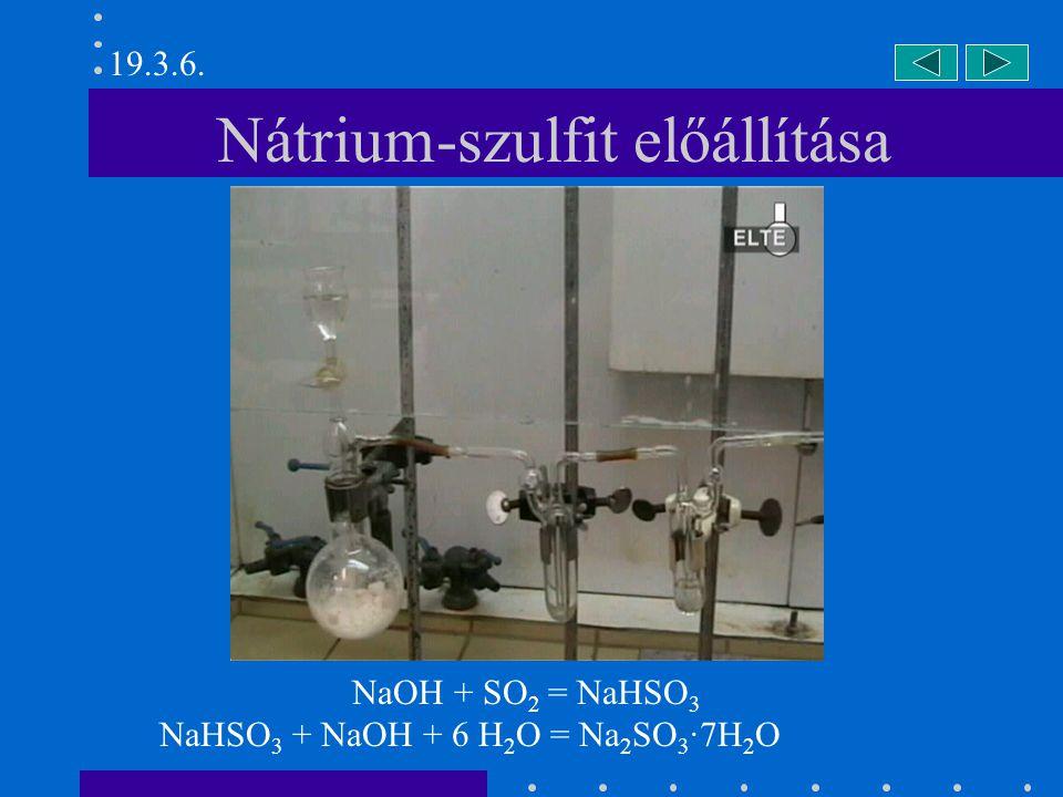 Nátrium-szulfit előállítása