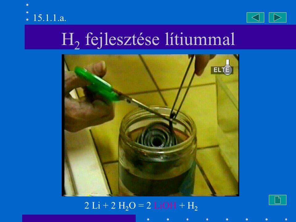 H2 fejlesztése lítiummal