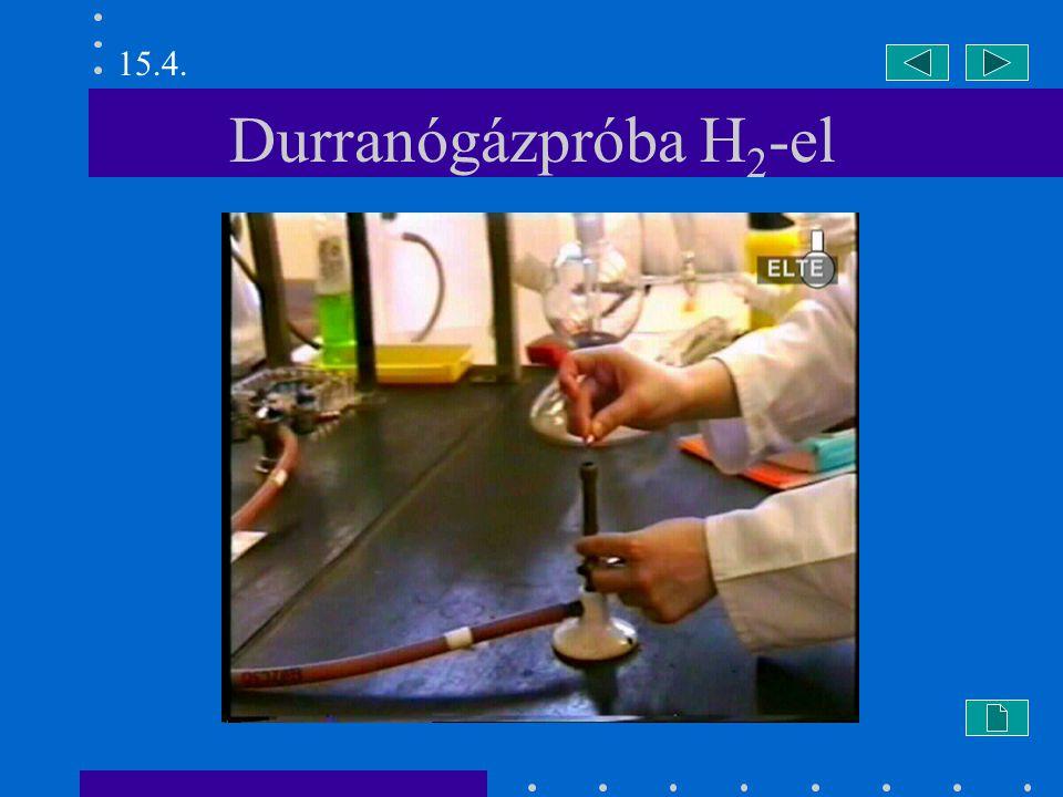 15.4. Durranógázpróba H2-el