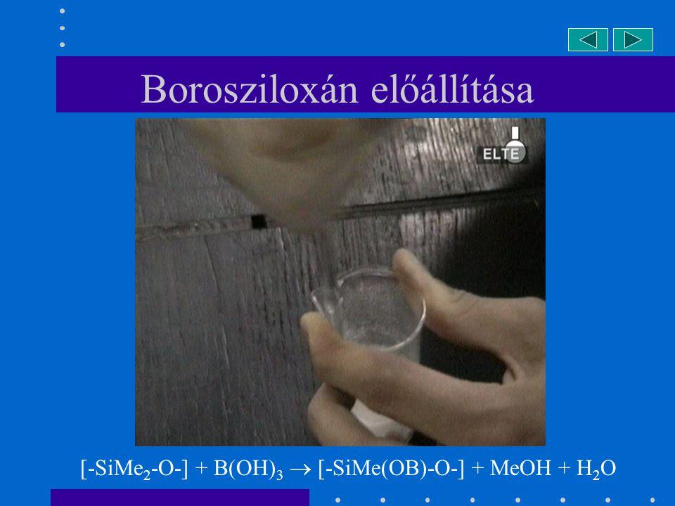 Borosziloxán előállítása