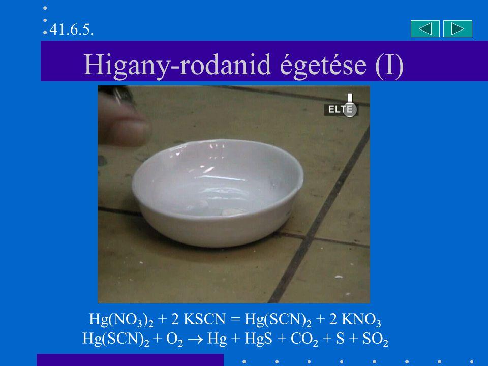 Higany-rodanid égetése (I)
