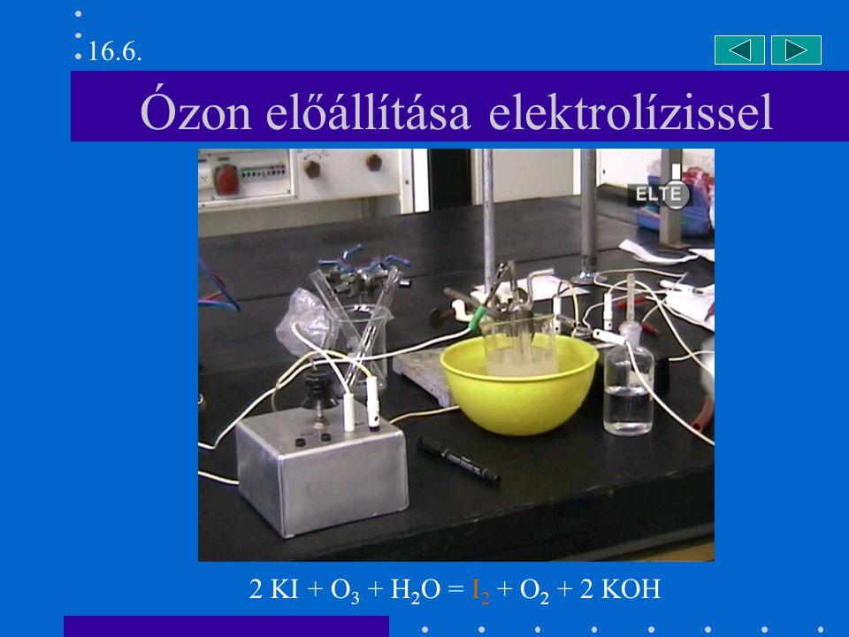 Ózon előállítása elektrolízissel