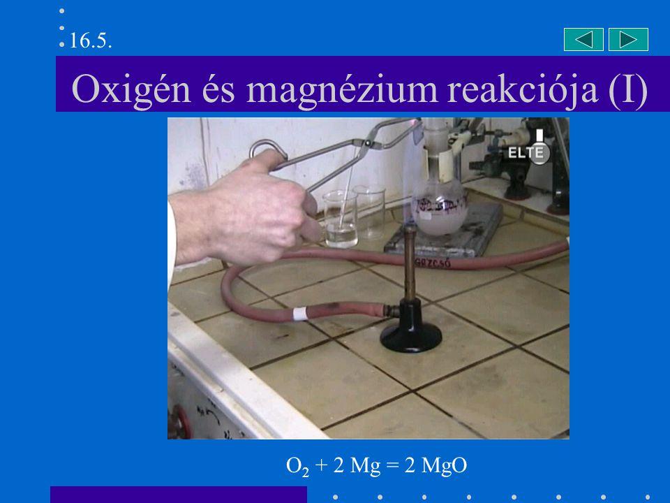 Oxigén és magnézium reakciója (I)