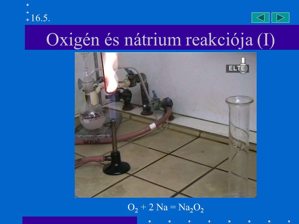 Oxigén és nátrium reakciója (I)