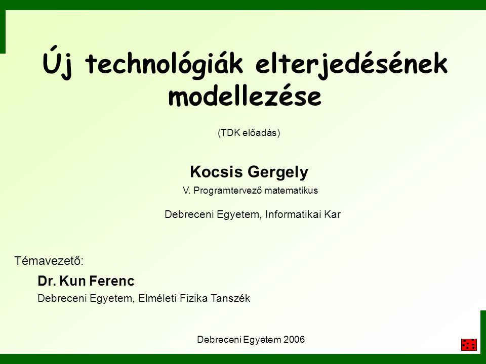 Új technológiák elterjedésének modellezése