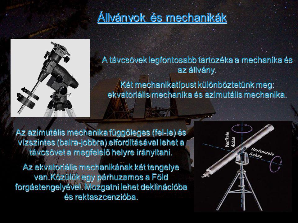 Állványok és mechanikák