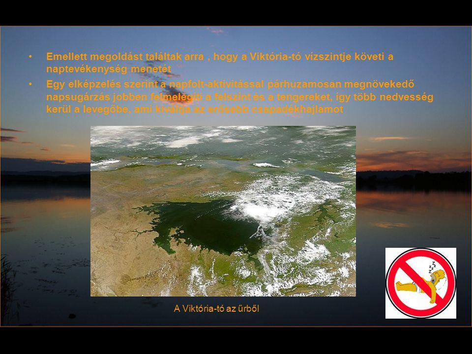 Emellett megoldást találtak arra , hogy a Viktória-tó vízszintje követi a naptevékenység menetét