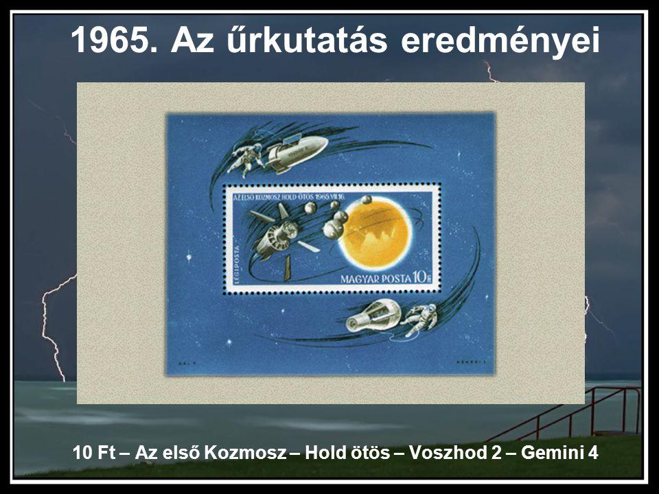 1965. Az űrkutatás eredményei