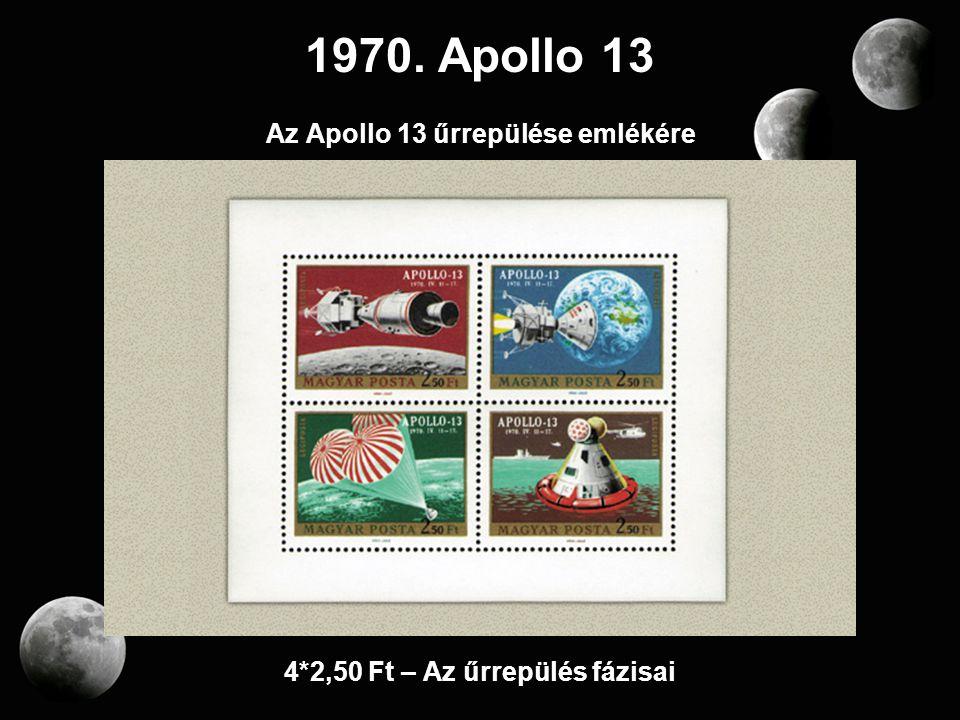 Az Apollo 13 űrrepülése emlékére 4*2,50 Ft – Az űrrepülés fázisai