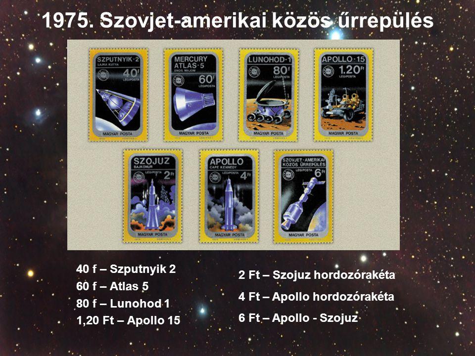 1975. Szovjet-amerikai közös űrrepülés