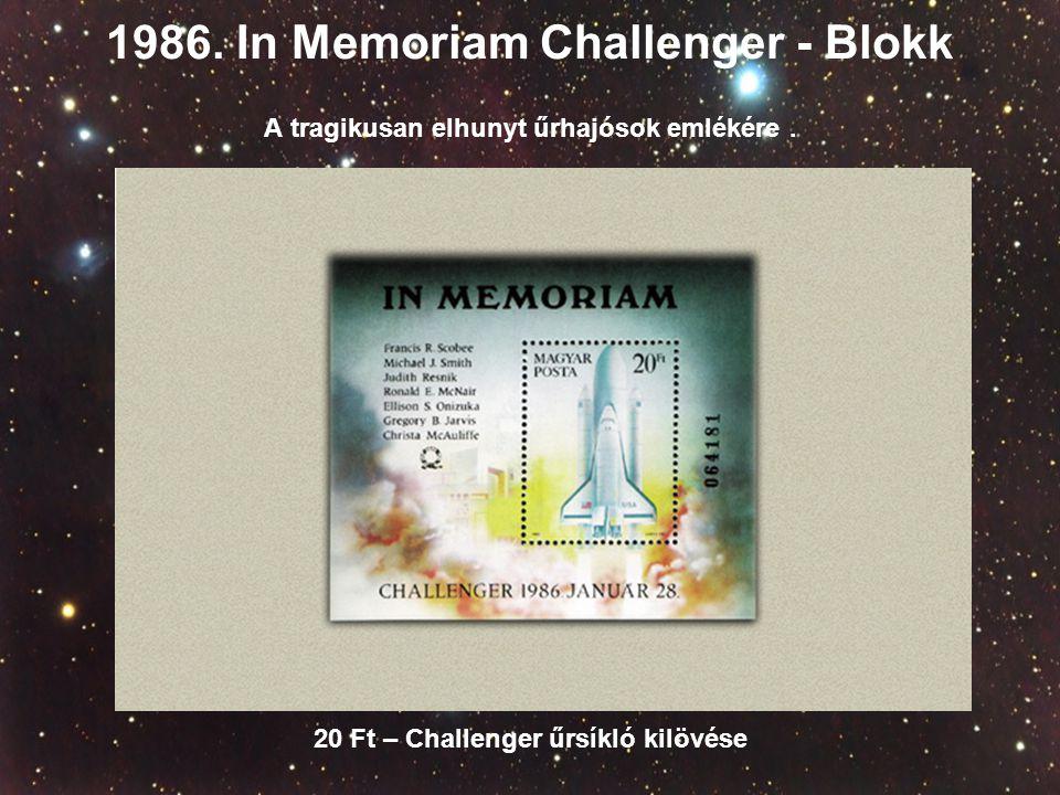 1986. In Memoriam Challenger - Blokk