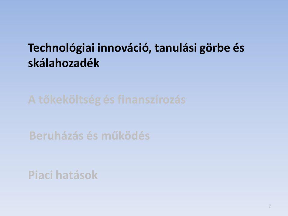 Technológiai innováció, tanulási görbe és skálahozadék