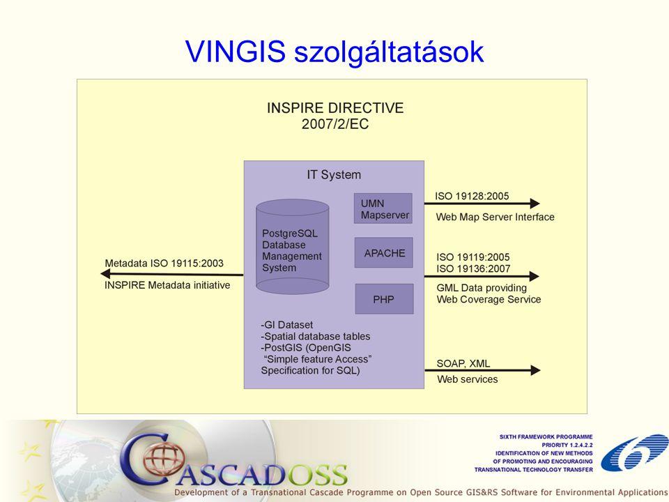 VINGIS szolgáltatások