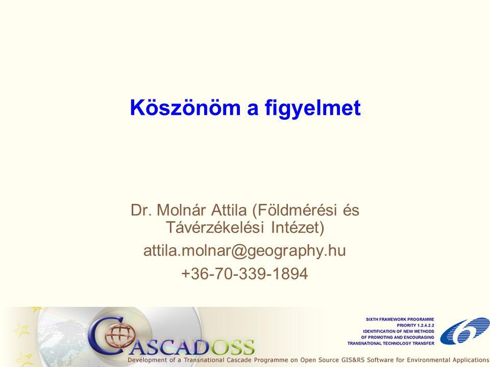 Dr. Molnár Attila (Földmérési és Távérzékelési Intézet)