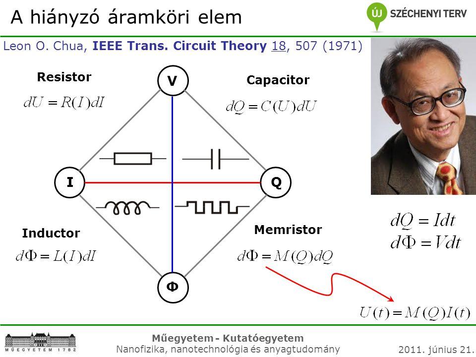 A hiányzó áramköri elem