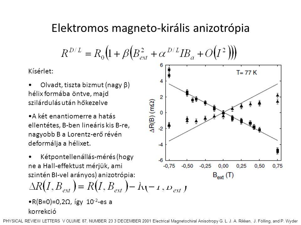 Elektromos magneto-királis anizotrópia
