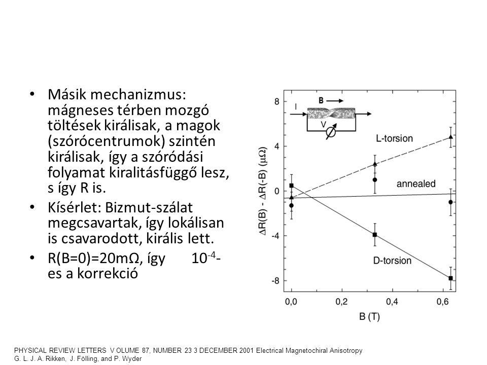 R(B=0)=20mΩ, így 10-4-es a korrekció