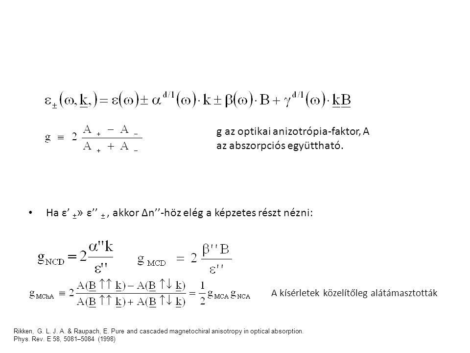 g az optikai anizotrópia-faktor, A az abszorpciós együttható.
