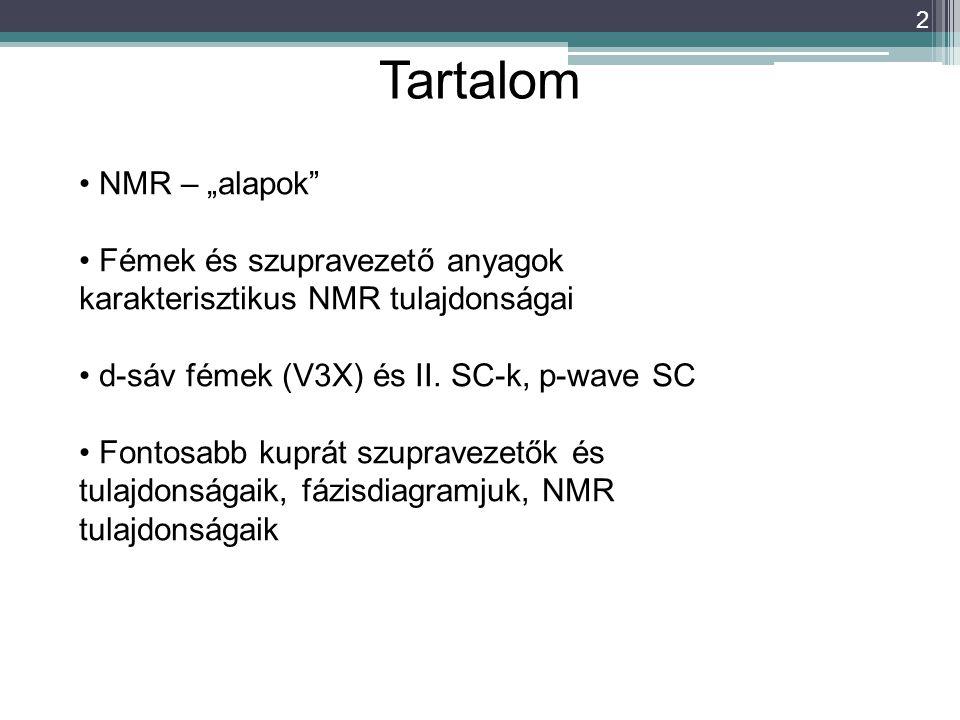 "Tartalom NMR – ""alapok"