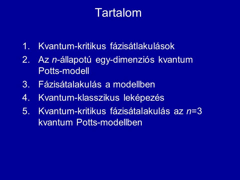 Tartalom Kvantum-kritikus fázisátlakulások