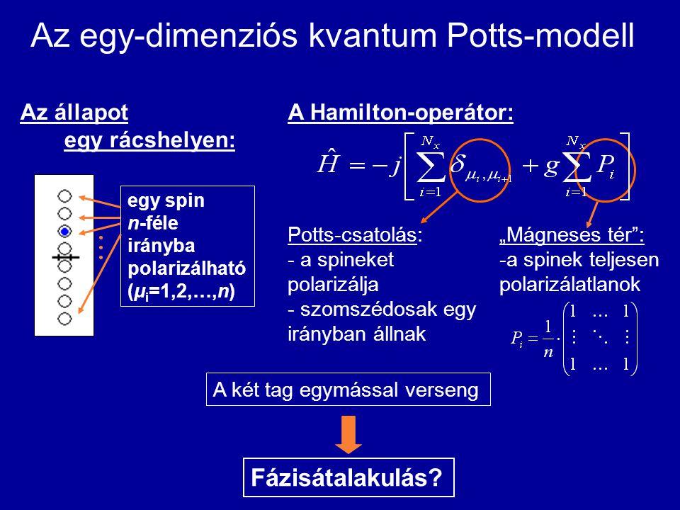 Az egy-dimenziós kvantum Potts-modell