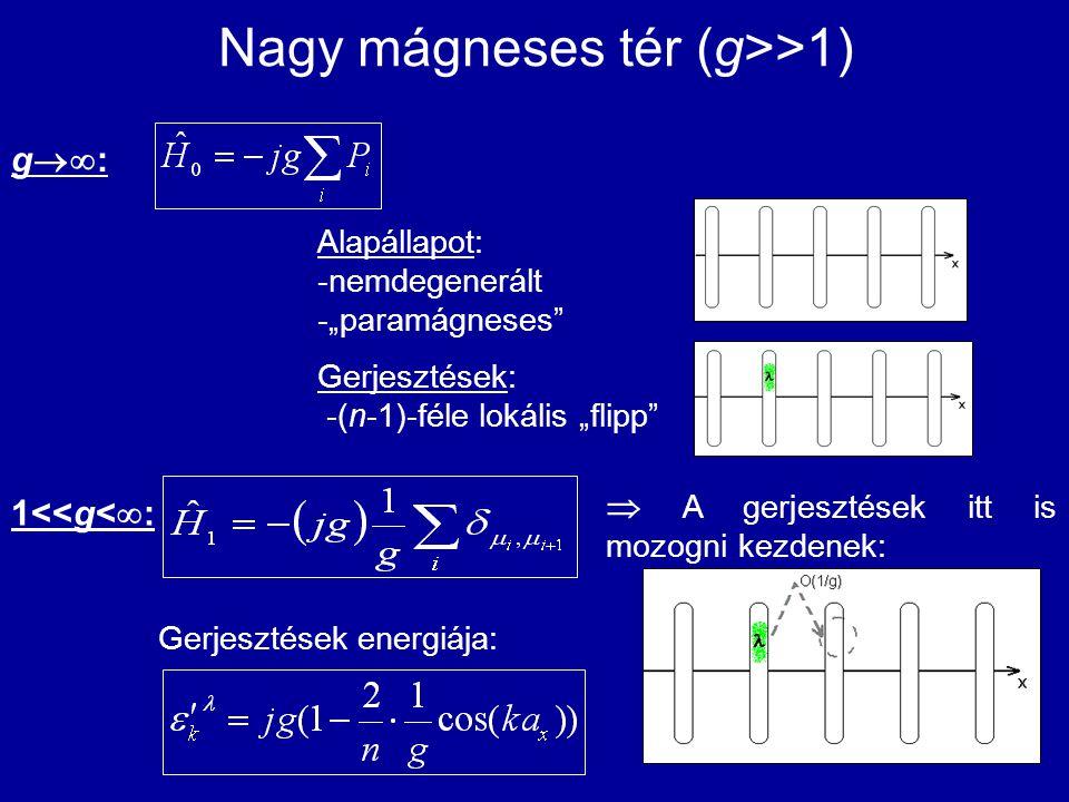 Nagy mágneses tér (g>>1)