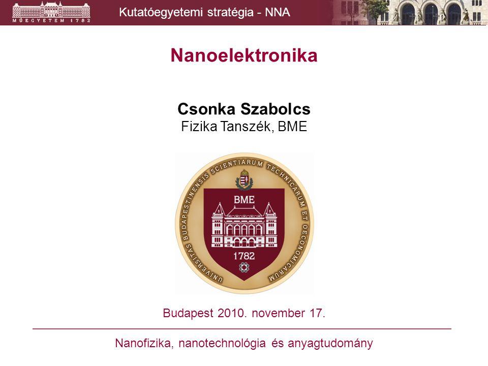 Nanoelektronika Csonka Szabolcs Fizika Tanszék, BME