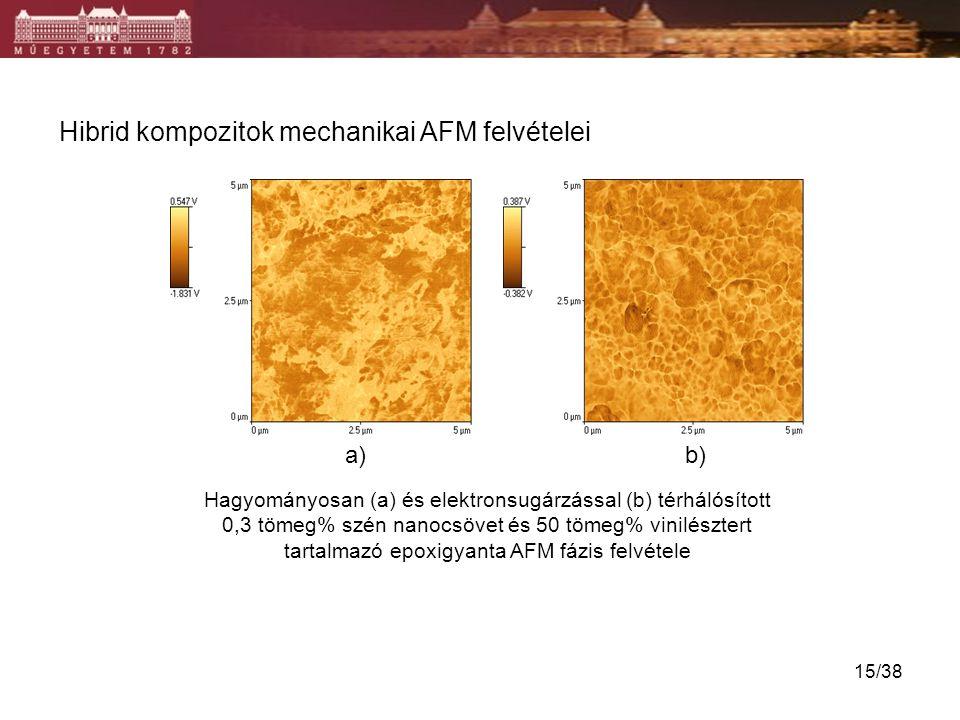 Hibrid kompozitok mechanikai AFM felvételei