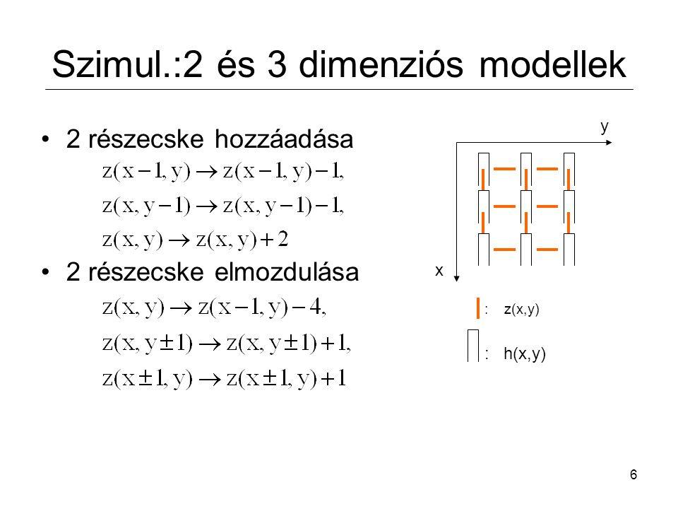 Szimul.:2 és 3 dimenziós modellek