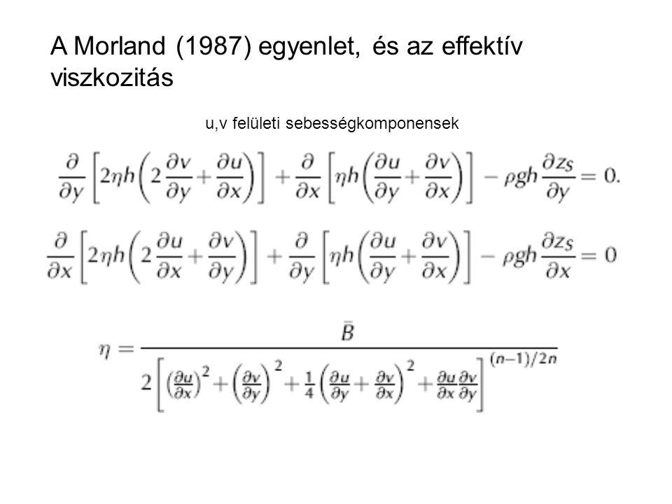 A Morland (1987) egyenlet, és az effektív viszkozitás