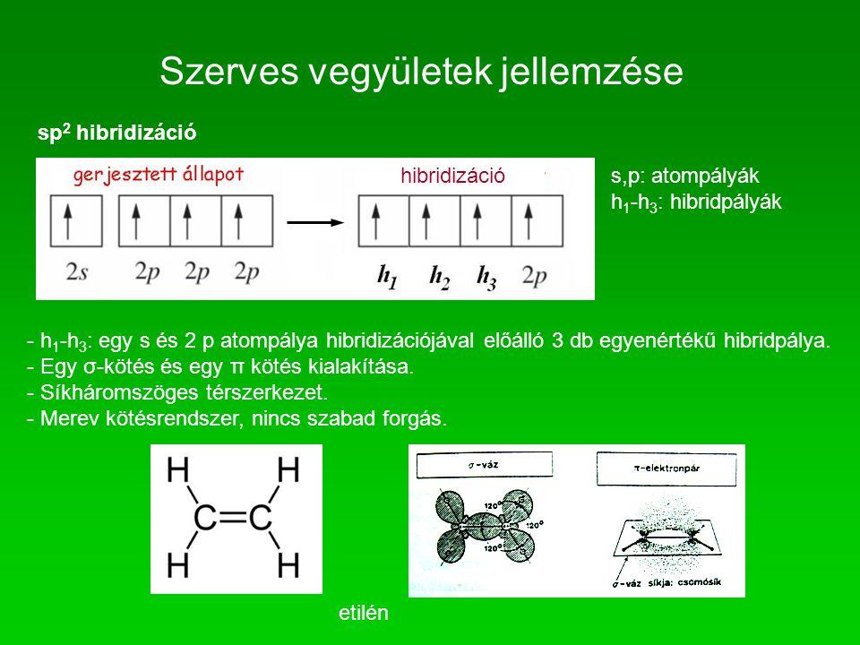 Szerves vegyületek jellemzése