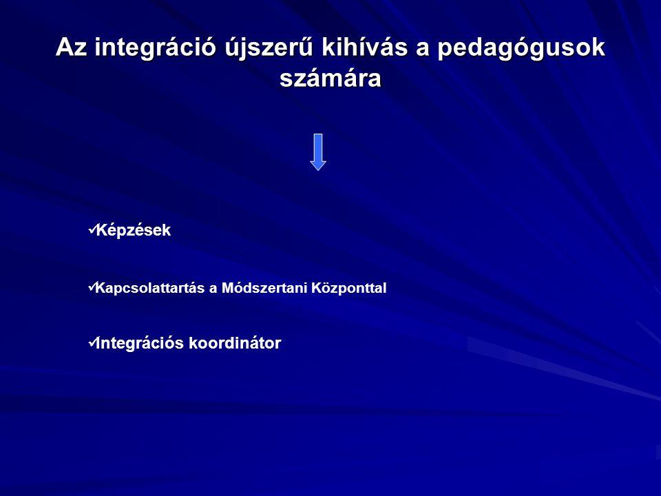 Az integráció újszerű kihívás a pedagógusok számára
