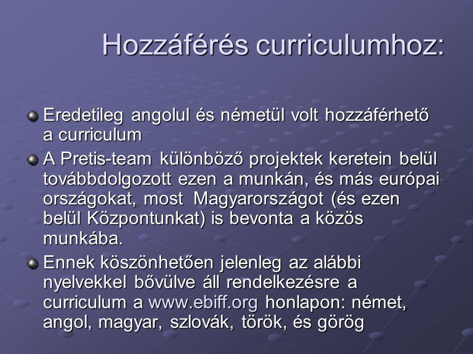 Hozzáférés curriculumhoz:
