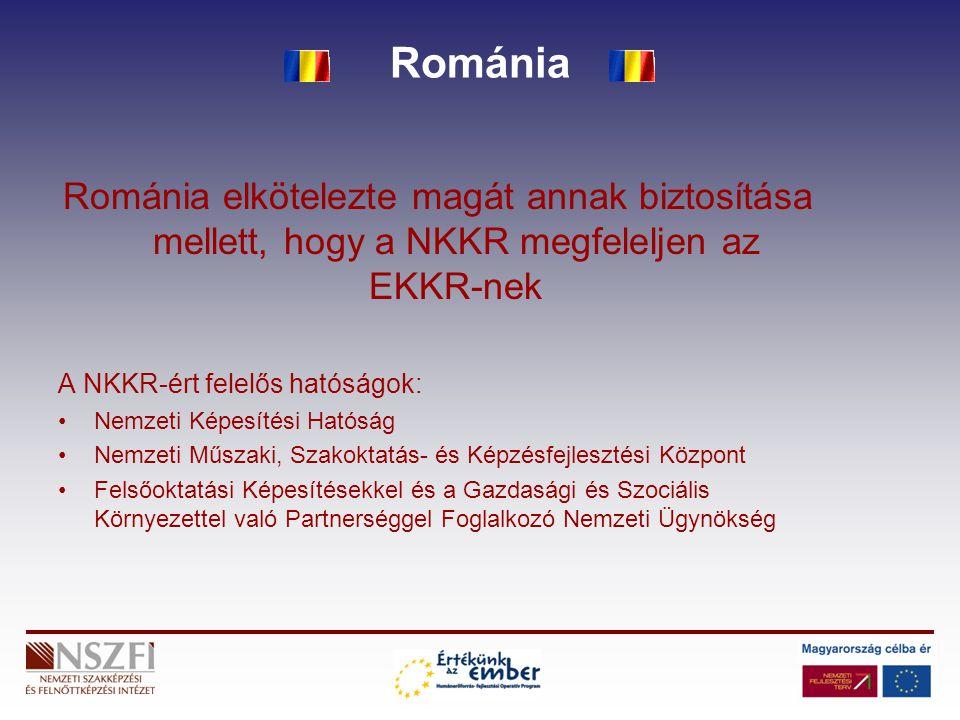 Románia Románia elkötelezte magát annak biztosítása mellett, hogy a NKKR megfeleljen az EKKR-nek. A NKKR-ért felelős hatóságok: