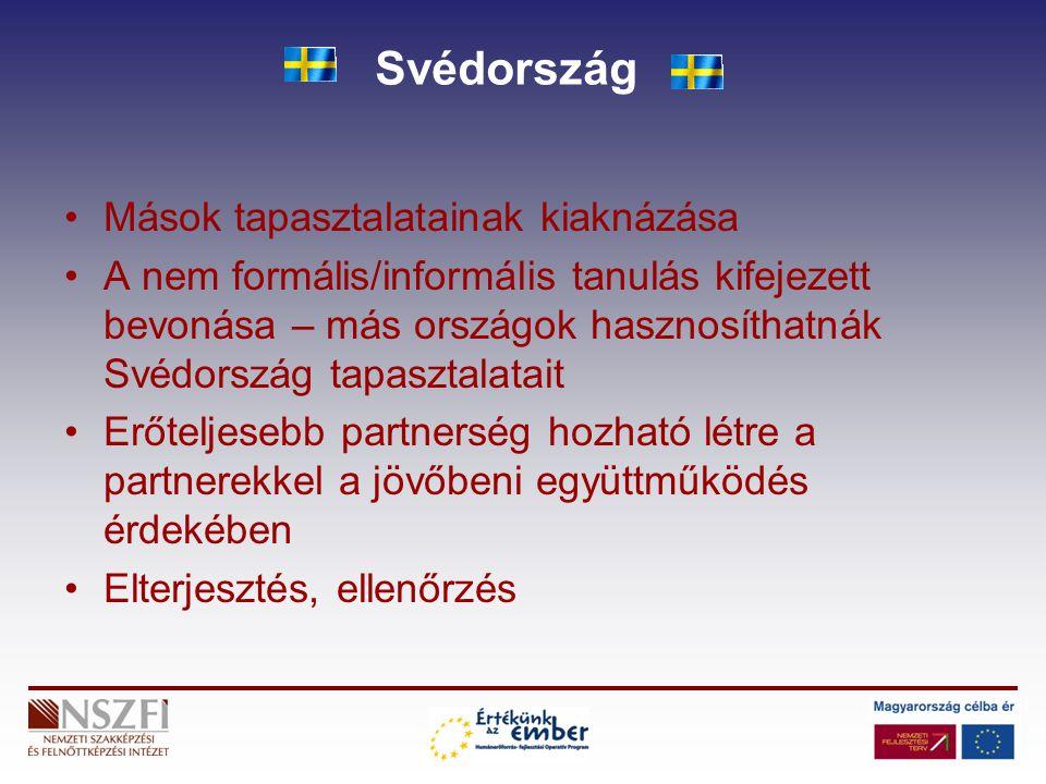 Svédország Mások tapasztalatainak kiaknázása