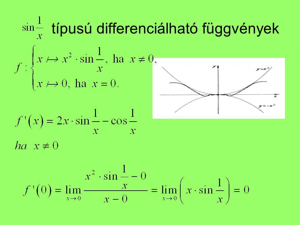 típusú differenciálható függvények