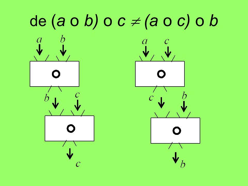 de (a o b) o c  (a o c) o b