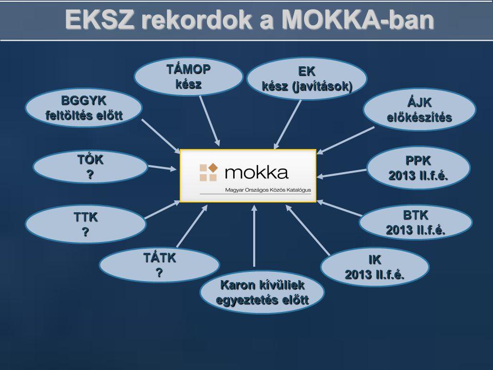 EKSZ rekordok a MOKKA-ban