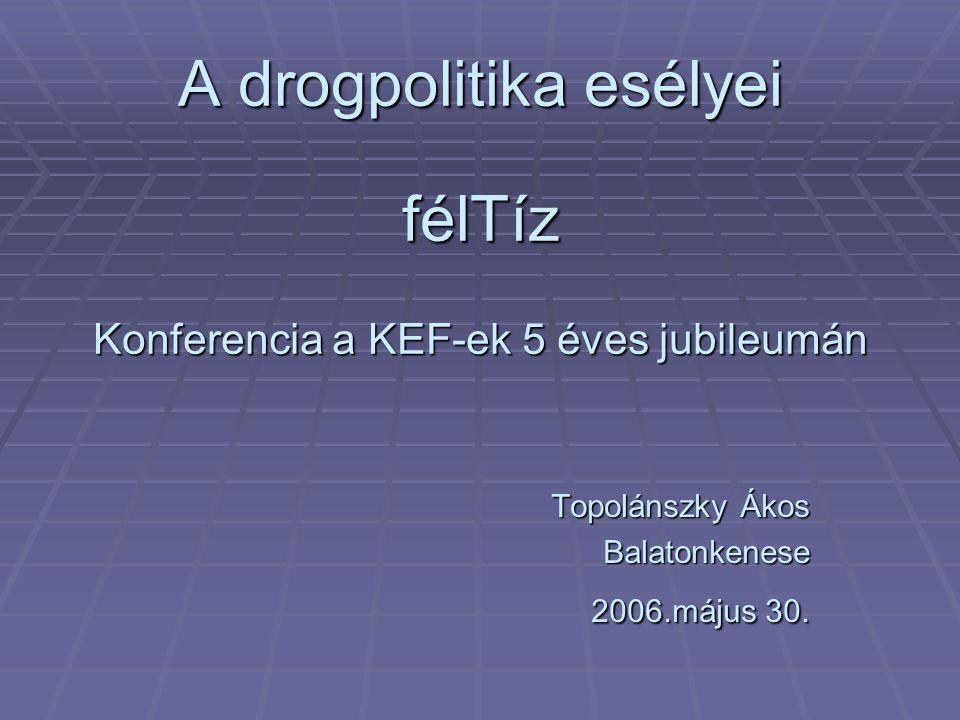 A drogpolitika esélyei félTíz Konferencia a KEF-ek 5 éves jubileumán