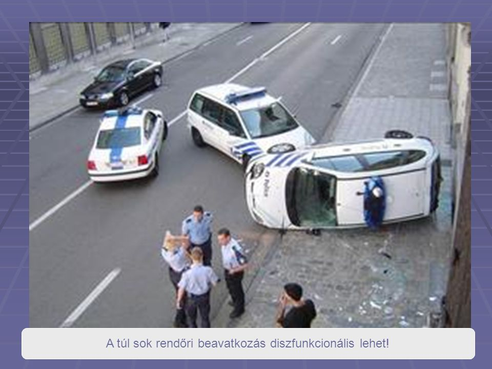 A túl sok rendőri beavatkozás diszfunkcionális lehet!