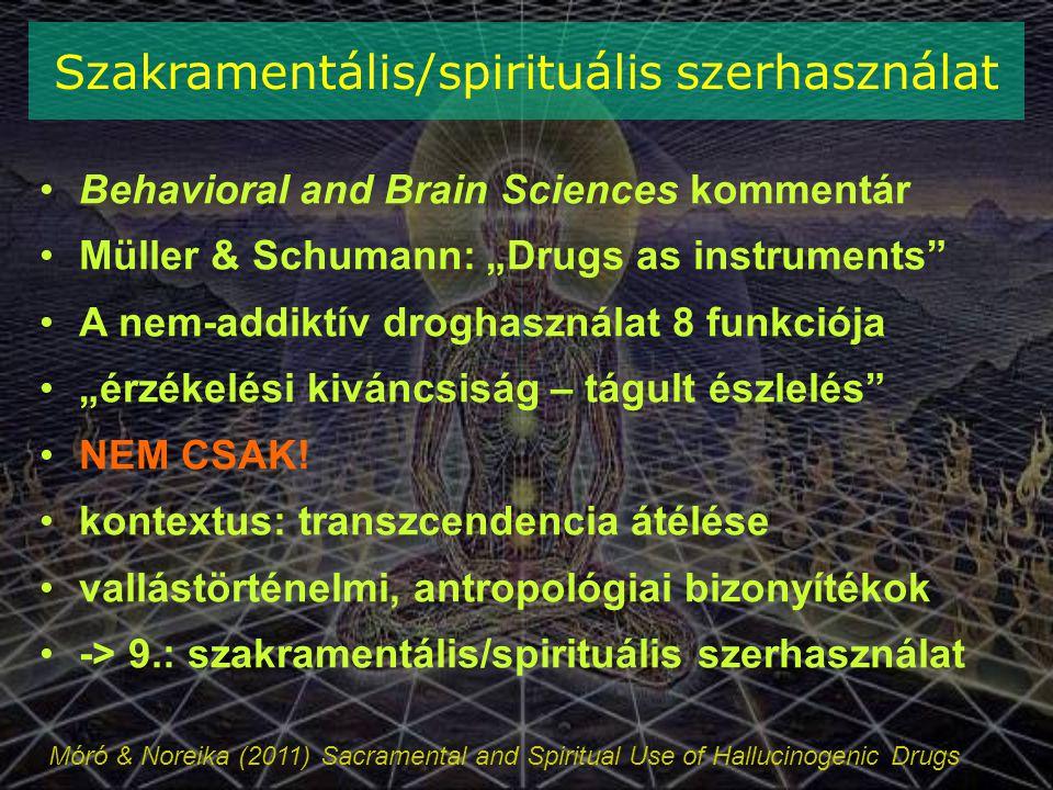 Szakramentális/spirituális szerhasználat