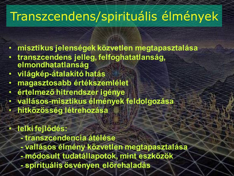 Transzcendens/spirituális élmények